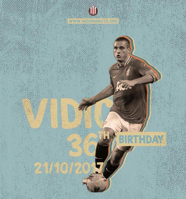Happy 36th birthday to former player Nemanja Vidic