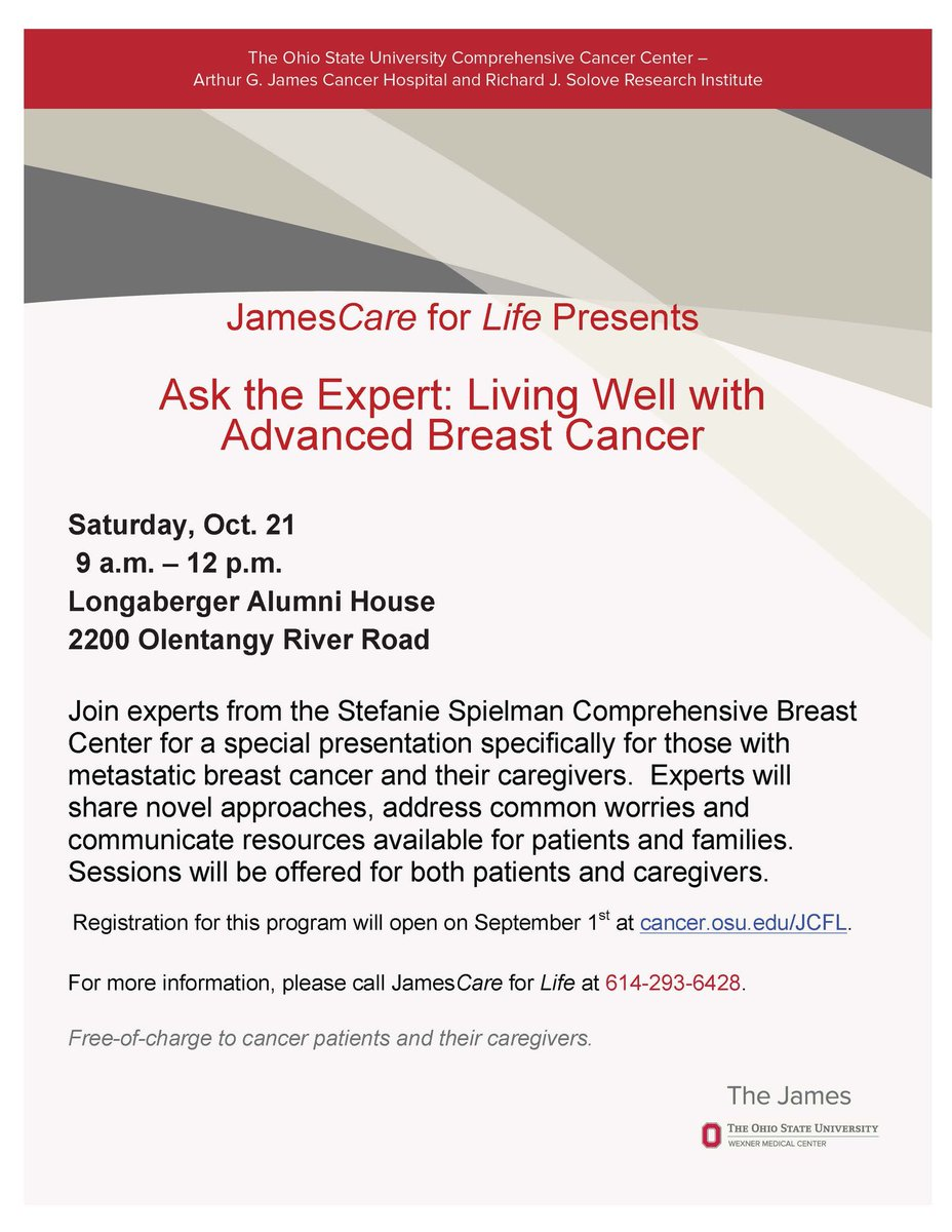 Our 'Living Well with Advanced Breast Cancer' event is this morning. Come on out! #MBC #bcsm <br>http://pic.twitter.com/2WKUs2sre3