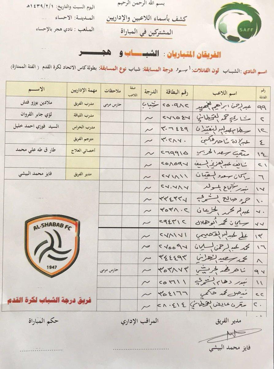 📄 قائمة شباب #الشباب في مواجهة هجر ضمن ب...