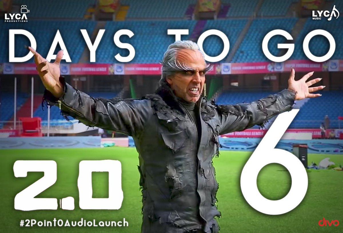 Get ready!!! #2point0 audio from 27th Oct. Savaging #2point0AudioLaunch. @superstarrajini @akshaykumar @arrahman<br>http://pic.twitter.com/A04ku8NUuS
