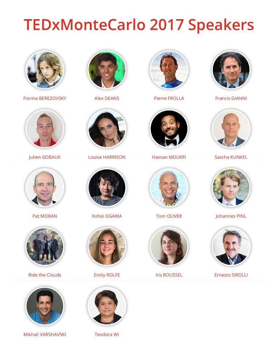 And here are all 18 speakers of #TEDxMonteCarlo 2017! Check their bios:  http://www. tedxmontecarlo.com  &nbsp;   #TEDx #MonacoEvents #Monaco #MonteCarlo  <br>http://pic.twitter.com/2HpvabYroZ