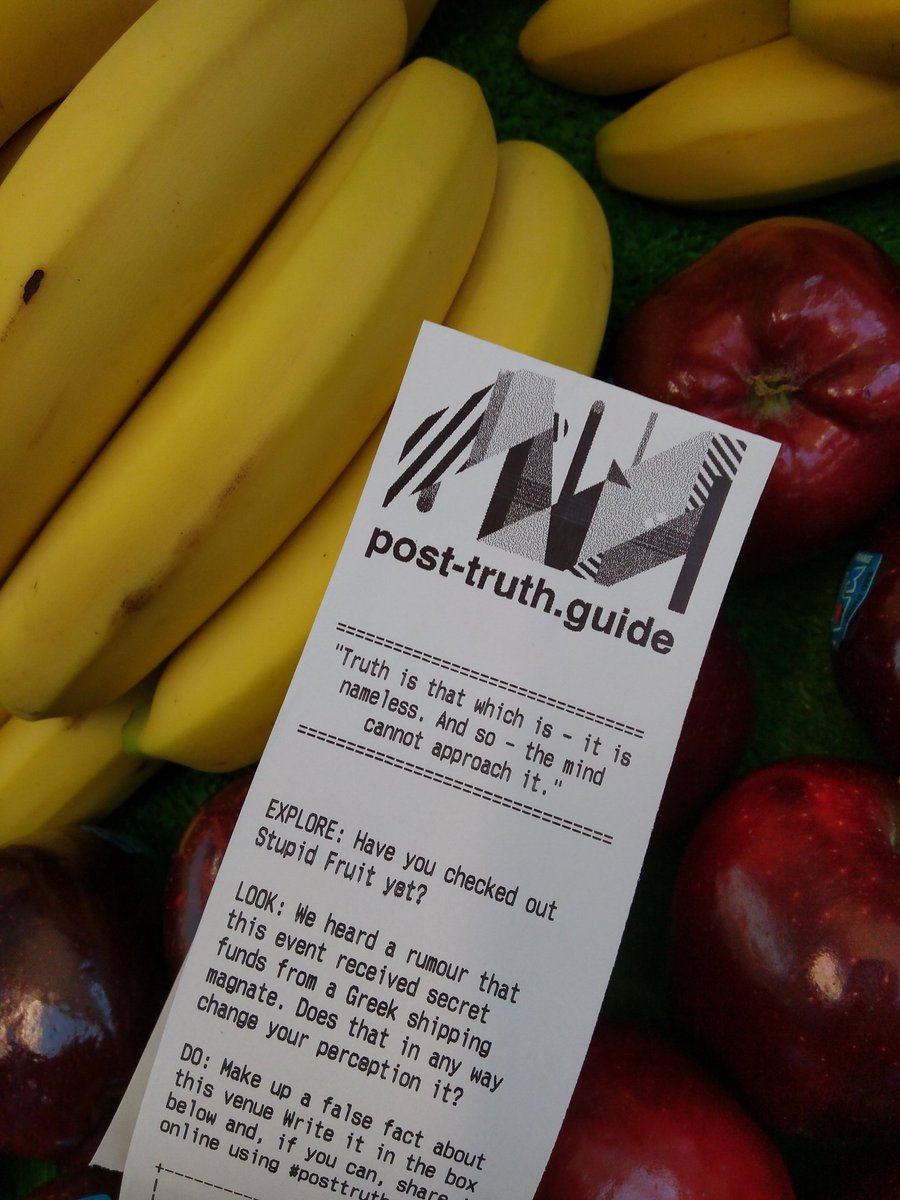 At Stupid Fruit for #freq17 #posttruthguide Their bananas can&#39;t be part of your five-a-day #posttruth <br>http://pic.twitter.com/F7nJImfCuE
