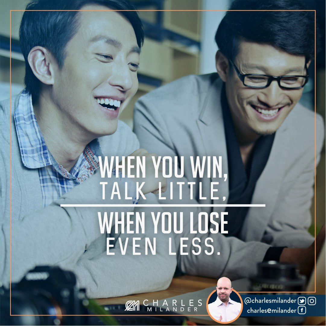 When you win, talk little, when you lose even less. #boss #entrepreneurship #business #quote #quotes #entrepreneur #motivation #inspiration<br>http://pic.twitter.com/hOYoRDvsgM