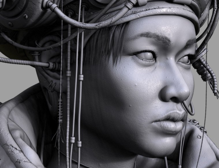 Ironing out the wrinkles and adding some zits... #zbrush #characterdesign<br>http://pic.twitter.com/VUryPUtMME