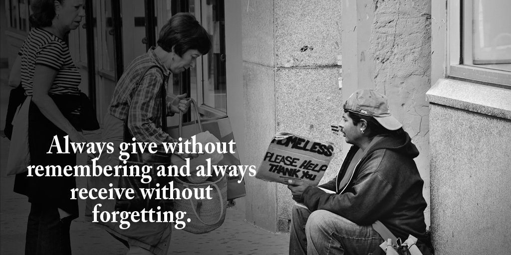 Always give without remembering and always receive without forgetting. #ability #blessed #values #mindfulness #bethechange<br>http://pic.twitter.com/qq73WAA8Pu