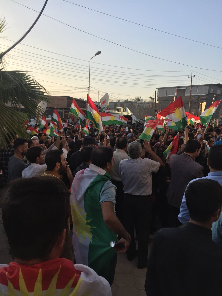 Protest now in front of US Consulate in Erbil