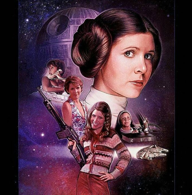 Happy birthday to our princess, general and angel Carrie Fisher