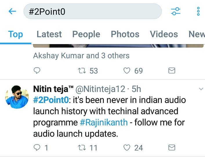 #2Point0: thanku @superstarrajini ji for trending my tweet in top10 &amp; it&#39;s becoz #Rajinikanth mania.. Follow me for more updates <br>http://pic.twitter.com/Qq3nJdCFcQ