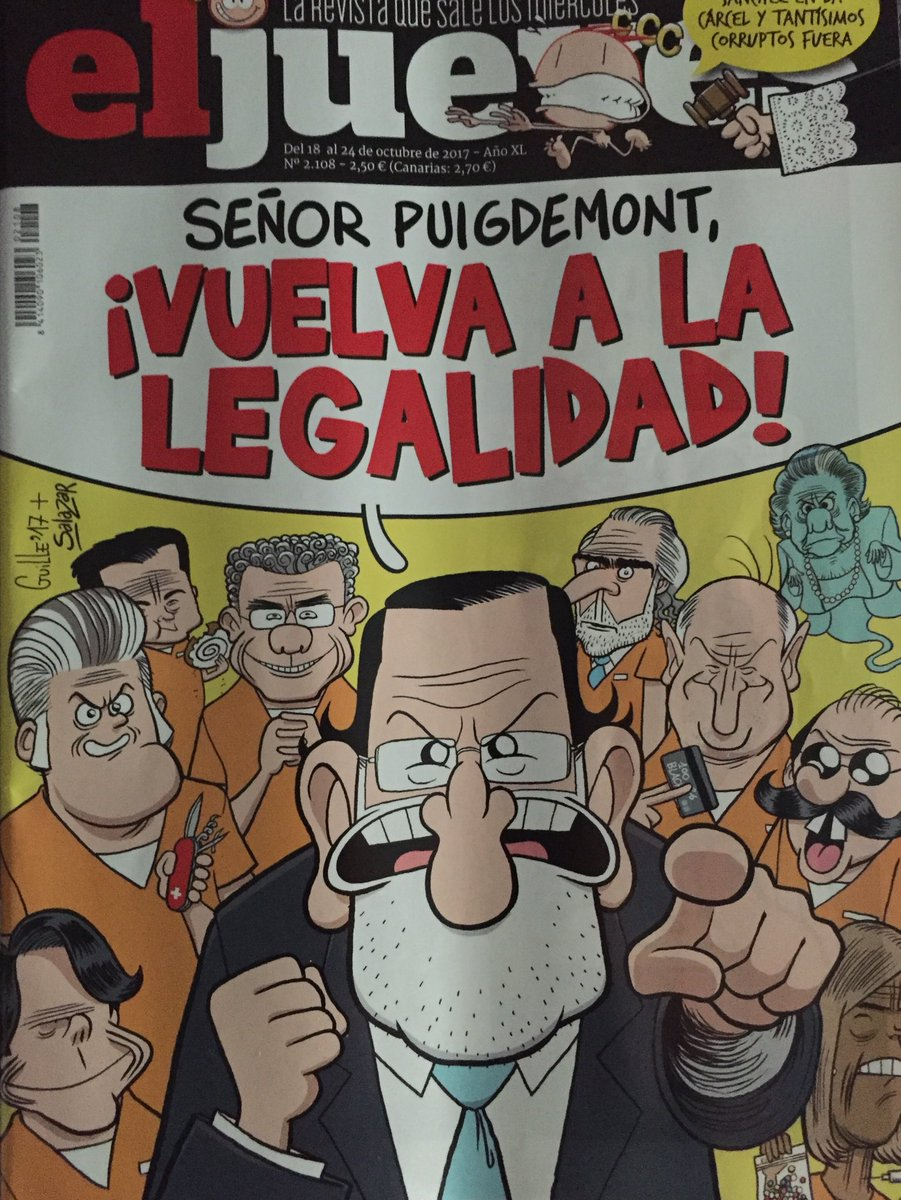 Ya lo advertía @eljueves Puigdemont, ¡VU...