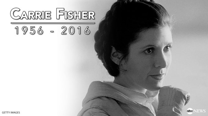Happy birthday, Carrie Fisher.  The Hollywood icon would have turned 61 years old today. Rest in peace...