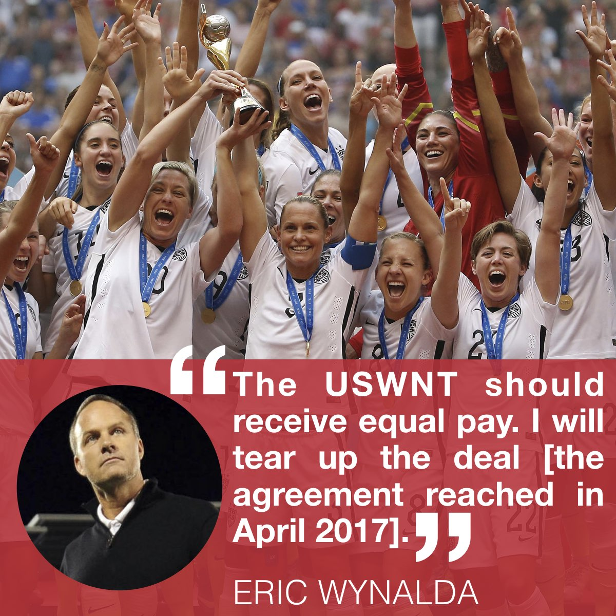 The next president of US Soccer, @EricWynalda, believes in equal pay for our #USWNT. It&#39;s time for change. #Wynalda4USSF<br>http://pic.twitter.com/hLoOGrS7cb