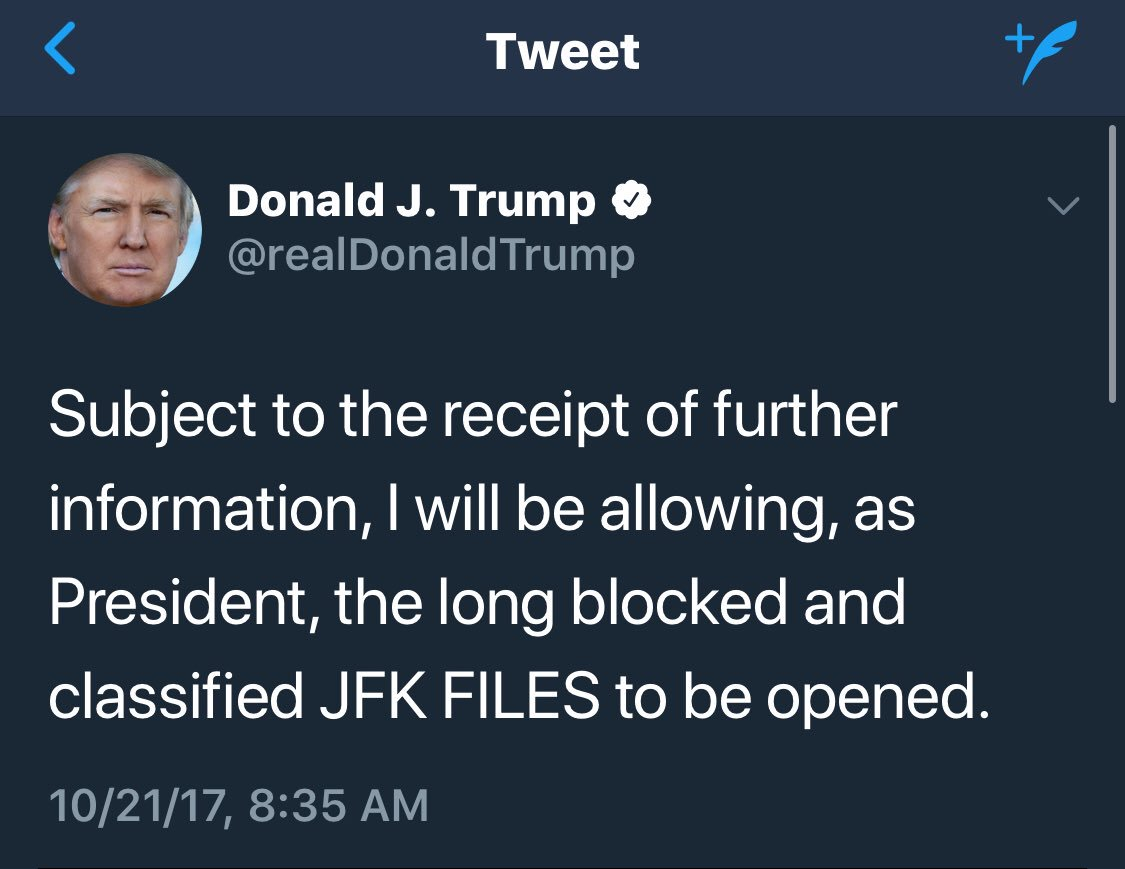 What  omits is that the files are scheduled, by law, to be released this Thursday. It's like he's declared today is Saturday