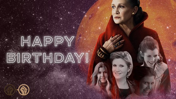 Happy birthday, Carrie Fisher. She would have turned 61 years old today. We miss you so much, Carrie.