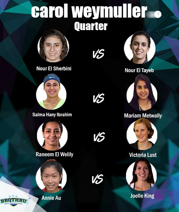 Elsewhere...   Egyptian players are into action in the @CarolWeymuller quarters! #brqthru