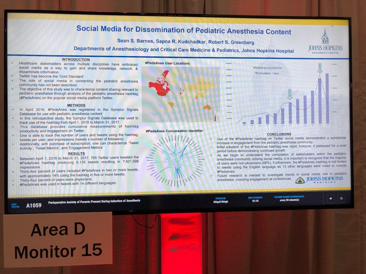Just finished presenting my #PedsAnes #SoMe poster at #ANES17.<br>http://pic.twitter.com/xW8A6Euhv7 &ndash; à Boston Convention &amp; Exhibition Center