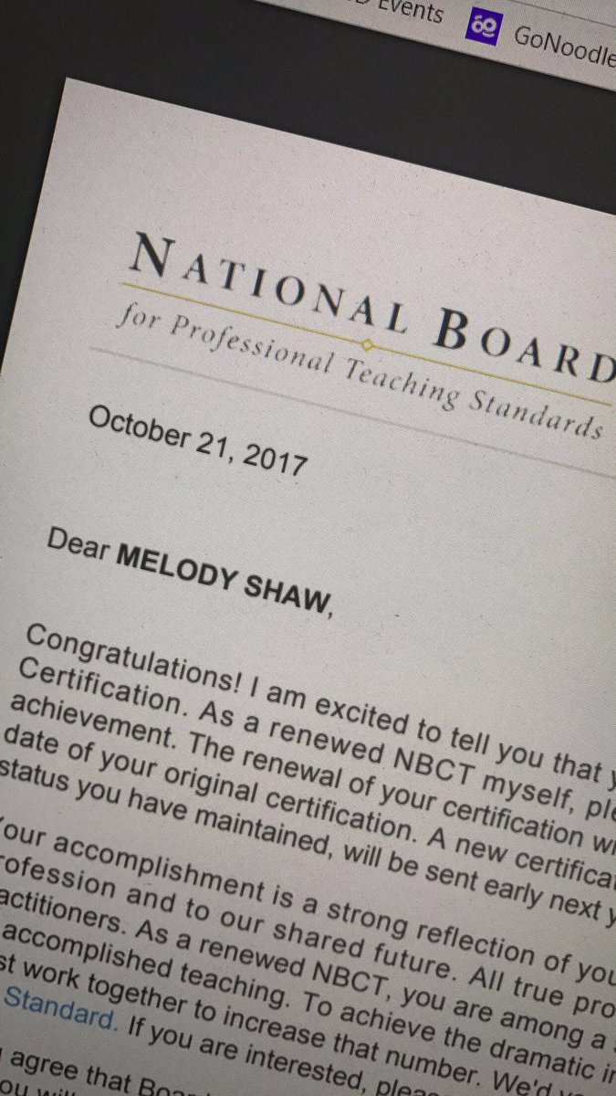 Melody Macon On Twitter I Passed My National Board Renewal