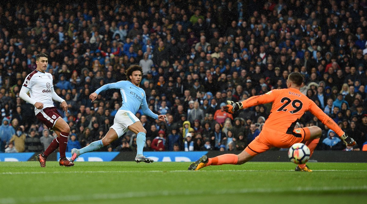 Another goal for @LeroySane19 as @ManCity surge five points clear at t...