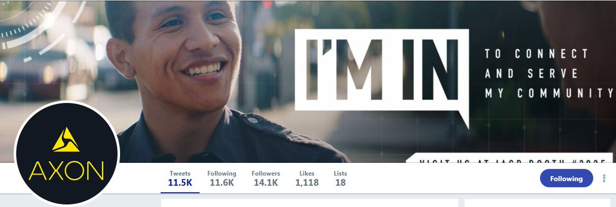 We absolutely LOVE the new Twitter banner for our US cousins @axon_us released just in time for @TheIACP #IACP2017 in beautiful #Philadelphia &quot; #ImIn .&quot; The @Axon_Canada team is already attending sessions and meeting our #Canadian #partners. Be sure to drop by Booth 2825 2 C us! <br>http://pic.twitter.com/ztCLb8pnCU