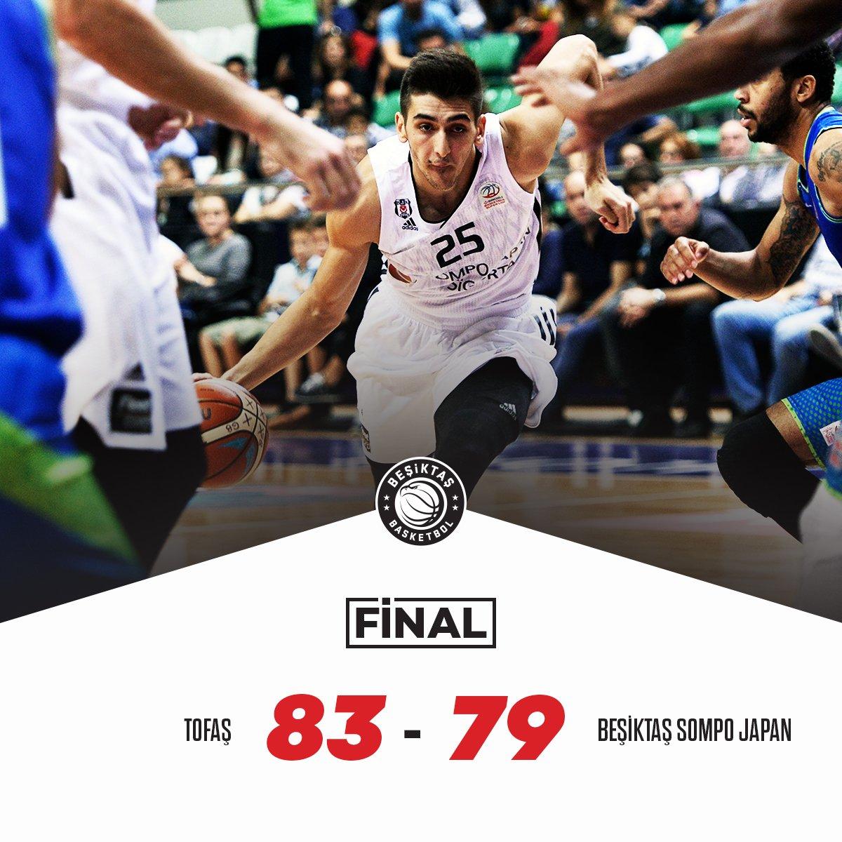 Tahincioğlu Basketbol Süper Ligi 3. Hafta MAÇ SONUCU Tofaş:83 Beşiktaş Sompo Japan:79 #PotanınKartalları #Beşiktaş