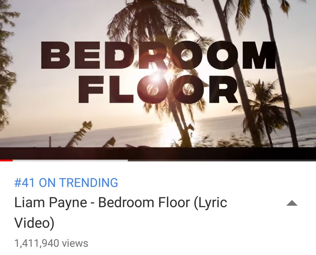 #Update| #BedroomFloor lyrics video has over 1.4M streams! Lets give Liam those 2M for his performance tommorrow!   https:// youtu.be/WPlx5BmZVkQ  &nbsp;  <br>http://pic.twitter.com/BRdFE8Kh4P