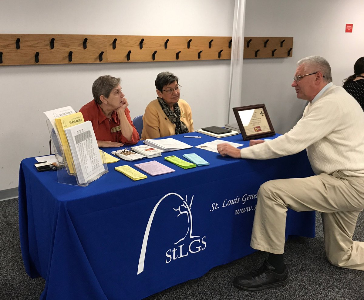 We&#39;re at the @SLCL Lineage Society Fair today! Come by for a visit #Genealogy <br>http://pic.twitter.com/k8AT2N7l4I