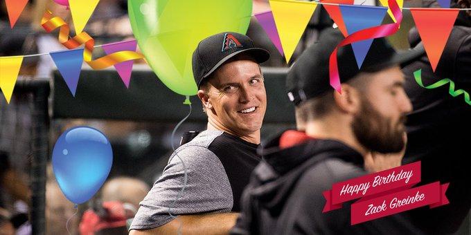 Wishing Zack Greinke a very happy birthday!