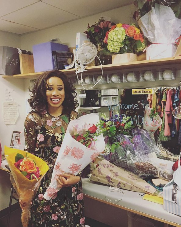 #ShowBizSaturday: Congratulations to @SalishaT on making her #Broadway debut in #BeautifulOnBway last week!<br>http://pic.twitter.com/zb58zTi0xl