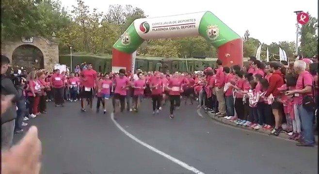 Una enorme #MarchaRosa de 7.600 personas ha tomado #Plasencia (@Ayto_Plasencia) para luchar contra el #cáncer. Lo vemos en #EXN1🎗👏. https://t.co/UHmmp59ohV