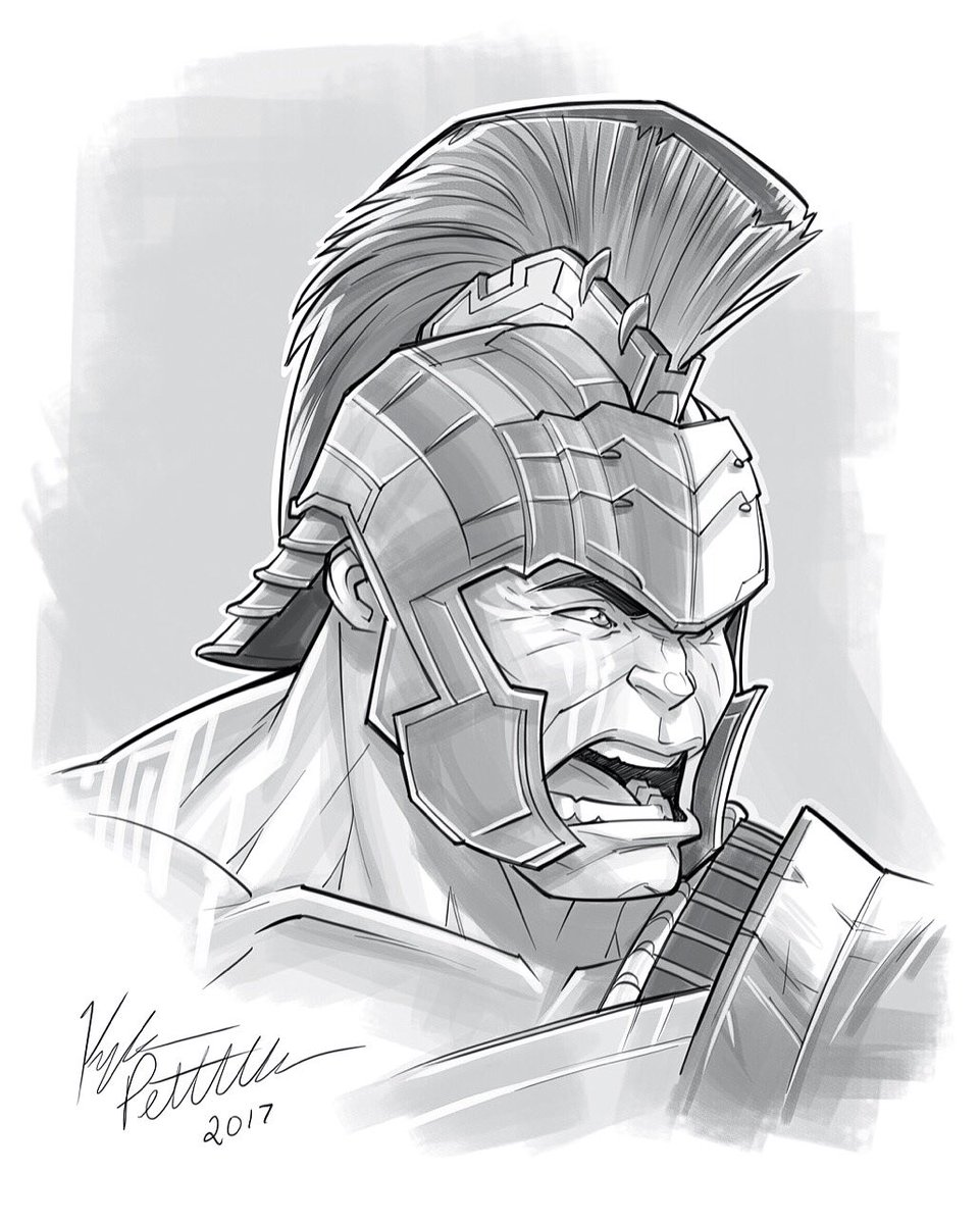 Kyle Petchock Art On Twitter U0026quot;Inktober Day 21 - Gladiator Hulk Ud83dude01 Whou0026#39;s Excited For Thor ...