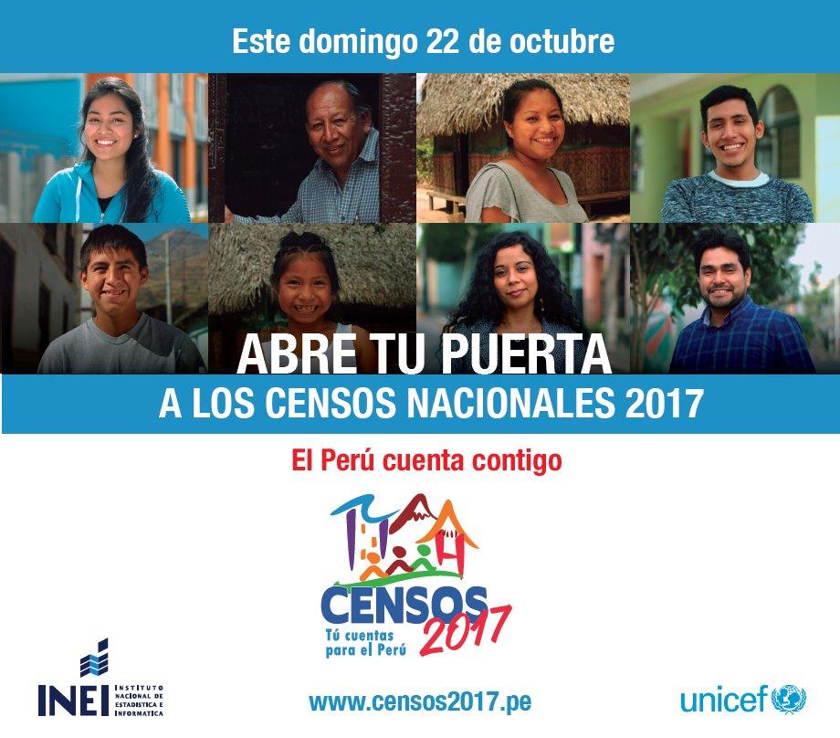 test Twitter Media - Este domingo 22 de octubre, abre tu puerta a los #CensosNacionales2017. #TúCuentasParaElPerú 🇵🇪 https://t.co/0ebqdsYStT