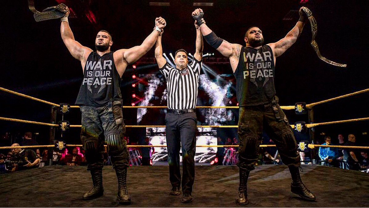 #War is our #Peace. #AOP  #Domain of #Dominance is a fire stoked by #PAIN. Enter NO MAN&#39;S LAND #WarGames #NXTTakeOver Houston  @WWENetwork<br>http://pic.twitter.com/Xeu7PngeLx