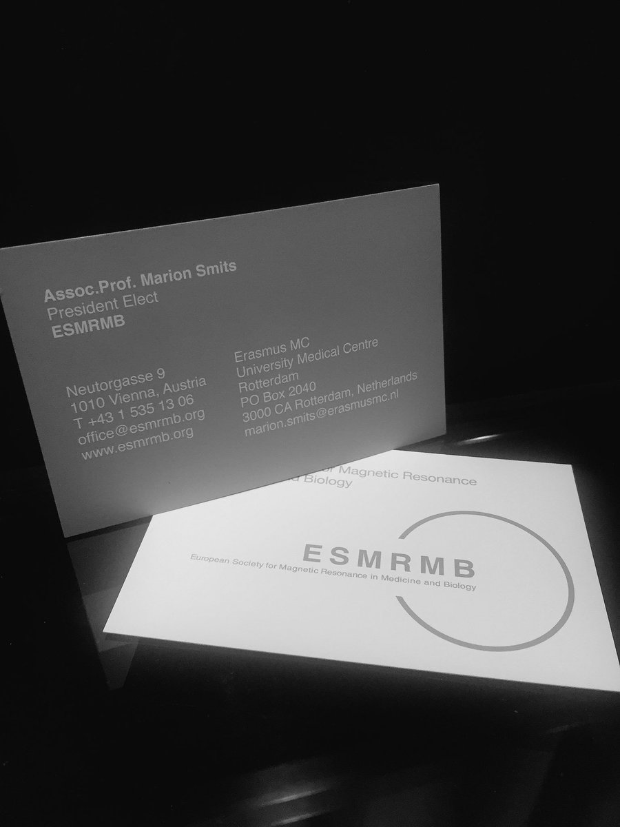 marion smits on twitter check out my new business card very excited to be starting the esmrmb presidential track today