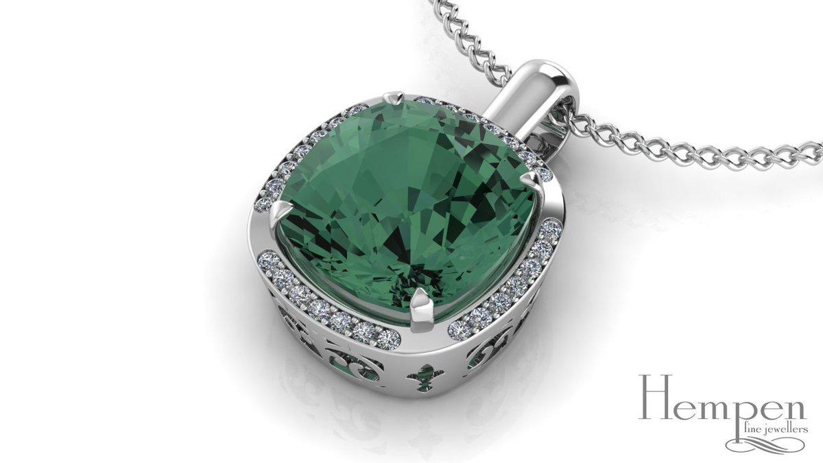Client&#39;s centre stone, our design! #pendant #necklace #gold #whitegold #diamonds #modern #custom #3d #jewellery #newmarket #hempenjewellers<br>http://pic.twitter.com/V3Ff4yMjDt