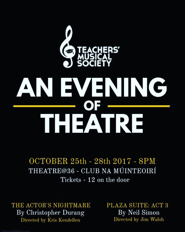 Like and retweet to win 2 tickets to opening night on Wednesday, always a great night of theatre. #competition #oneactplays #dublin #tms<br>http://pic.twitter.com/WjOo1Fbd4B