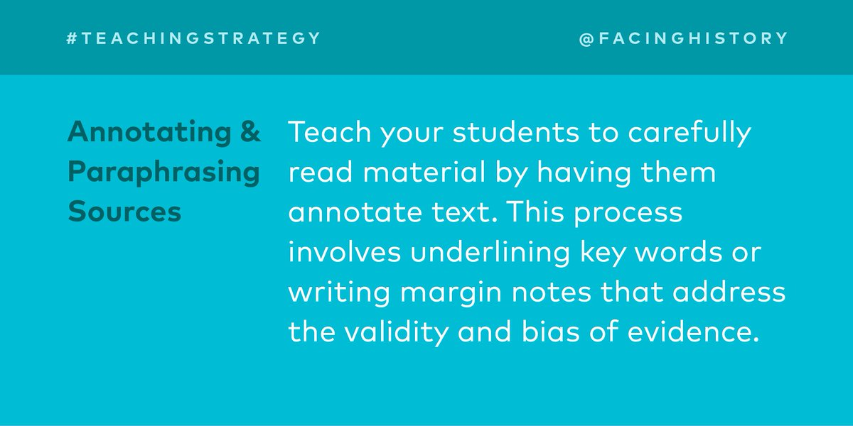 Teach #students to carefully read material with this strategy:  http:// bit.ly/2w48URN  &nbsp;   #teachertip<br>http://pic.twitter.com/qMXOKNMwqs