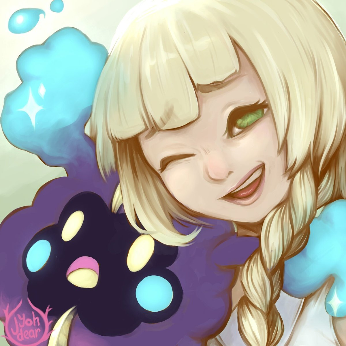 Lillie from #pokemon with #cosmog for #cutiesaturday #digitalart #artistsontwitter #sunandmoon #painting<br>http://pic.twitter.com/r8Xbq3yfKN