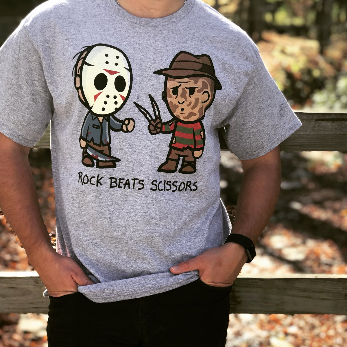 Sorry Freddy, rules are rules.   Tees from your favorite horror movies...
