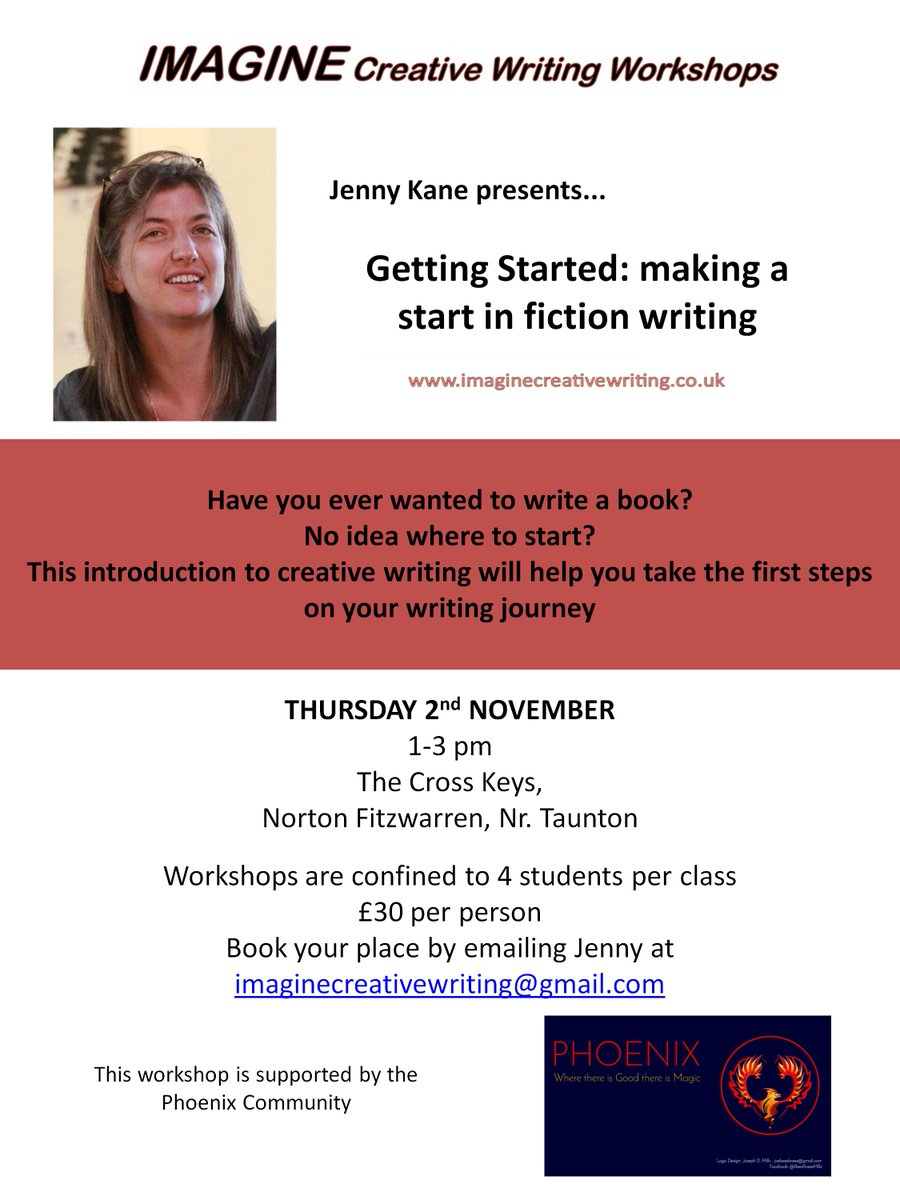 &quot;Getting Started&quot; #workshop at #NortonFitzwarren, nr #Taunton 2nd November. Places are limited, so please #BookNow @PhoenixIndies #Creative<br>http://pic.twitter.com/rkthXw2sb4
