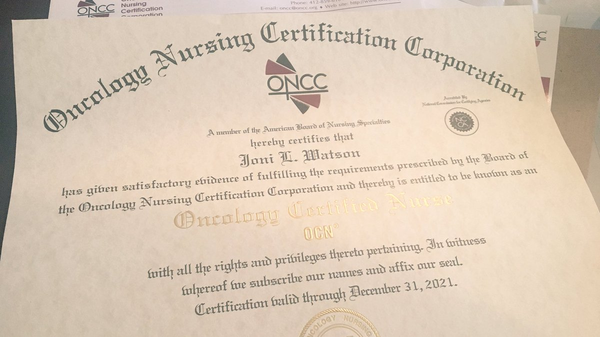 Joni watson on twitter im still just as proud as day 1 of joni watson on twitter im still just as proud as day 1 of certification celebrating 10 years maintaining my oncology certified nurse credentials xflitez Images