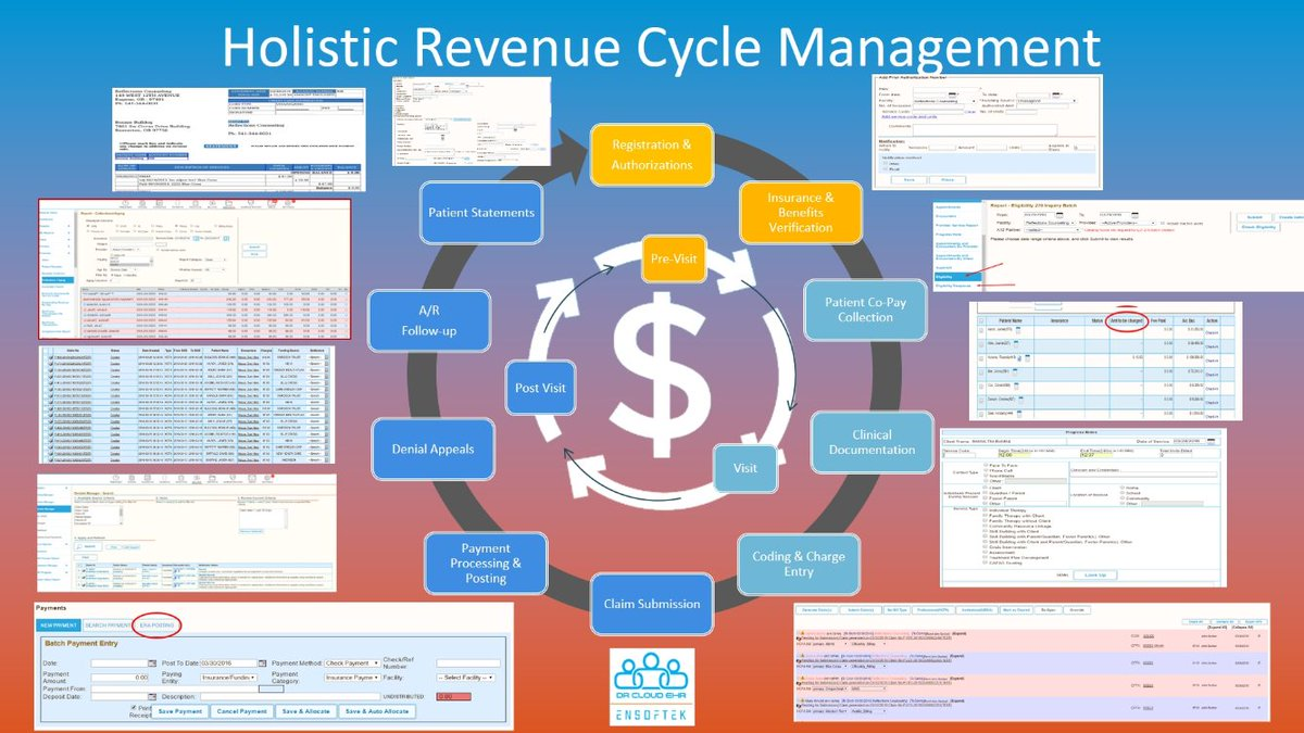 One of our best-practices workflow features that is integrated into #DrCloudEHR is holistic Revenue Cycle Management! #privatepractice <br>http://pic.twitter.com/aKnHbhBm3G