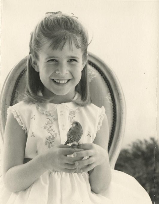 Happy Birthday, Carrie Fisher! Here she is as a child with her pet bird Benny Karl.
