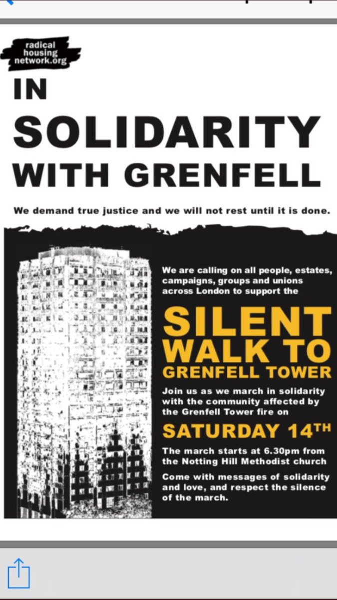 #Grenfell #Silent #March 14th of every month, same route. #Solidarity #Justice #Truth <br>http://pic.twitter.com/DP1MF55LVh