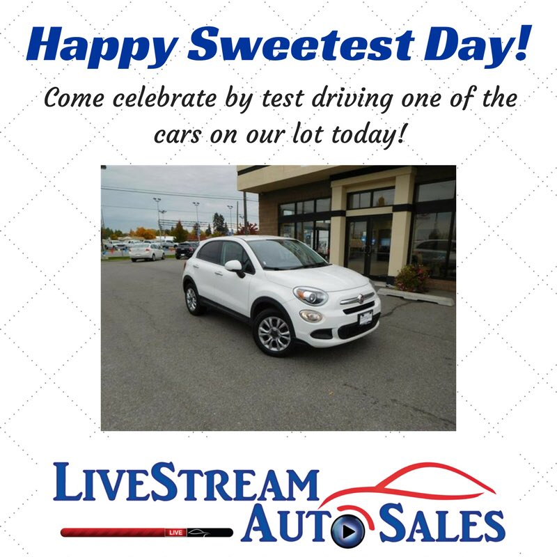 #HappySweetestDay! Come see this 2016 #Fiat—it's in great condition with low mileage! #CarDealership #Cars #Spokane #CDA #SpokaneValley<br>http://pic.twitter.com/REhJ9TWHQS