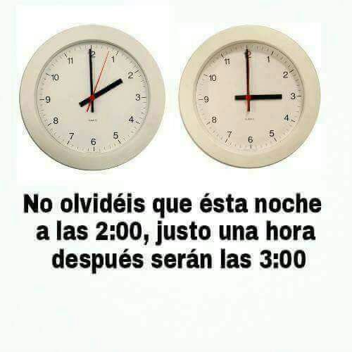 No lo olvides #Cambiodehora https://t.co/104N8aYpn1