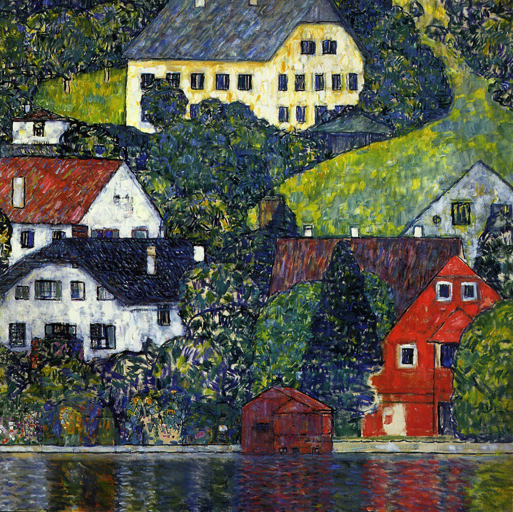 Houses at Unterach on the Attersee Gustav #Klimt 1916 #art #painting #peinture #Tableau   http:// bit.ly/18GCSaj  &nbsp;  <br>http://pic.twitter.com/IFZ3nZG24M