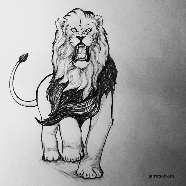 Reposting @jarrettonions: Only a little bit spaz #haha... #inktober2017 #inktober #fierce #lion #pride #proud #strong #pendrawing<br>http://pic.twitter.com/Z3A1qYyfvI
