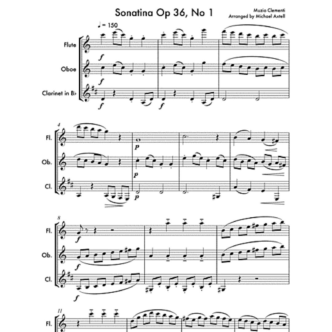 1st of this #weekend&#39;s  #sheetmusic &#39;#Sonatina Op 36, No 1 by Muzio #Clementi&#39; on #SheetMusicPlus.  http://www. sheetmusicplus.com/title/20405334  &nbsp;   04053 #Woodwind <br>http://pic.twitter.com/Y49ZD1Zd5m