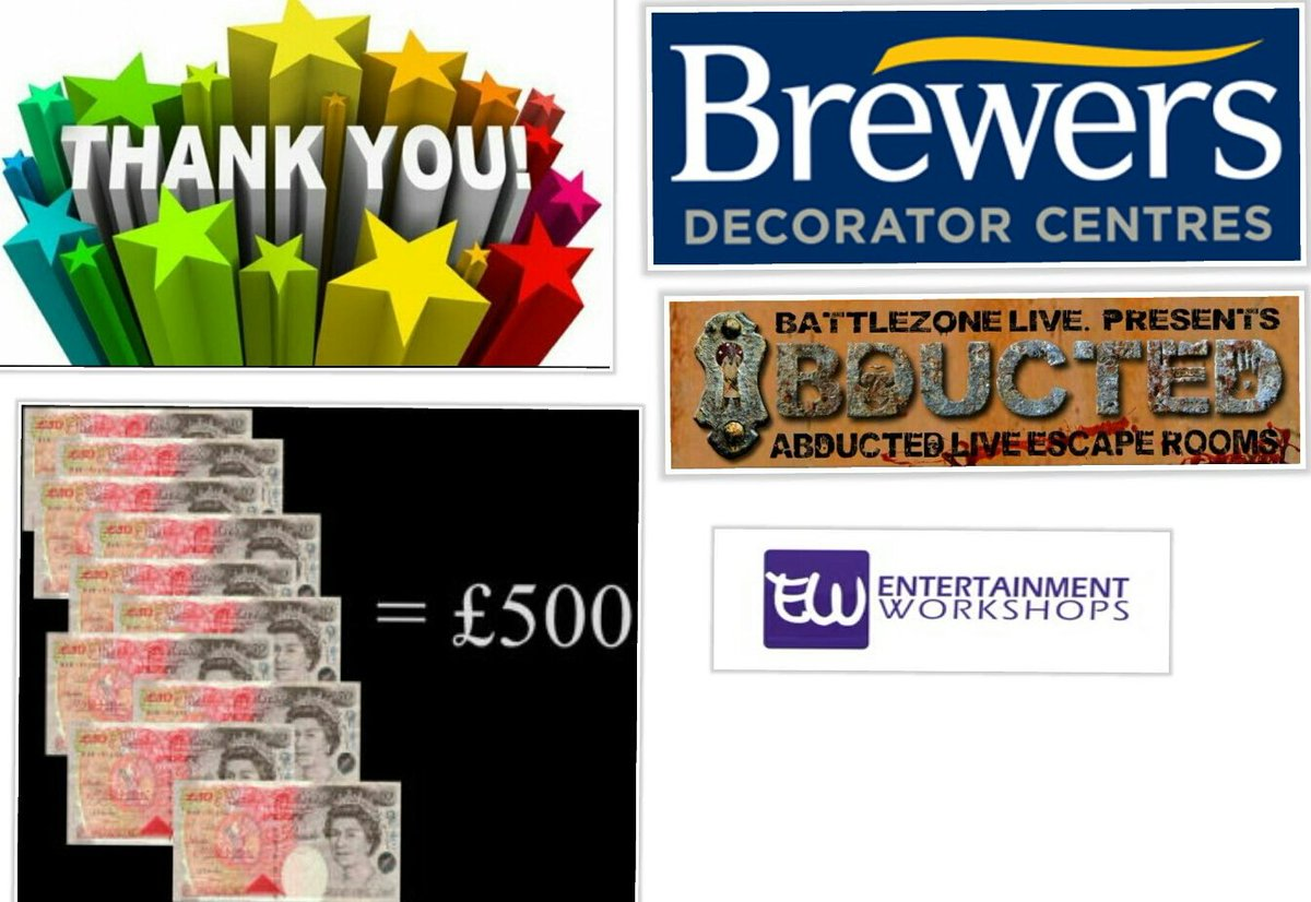 Huge thanks to @Brewerspaints for their donation of £500 to #entertainment #workshop of Rye for # celebrity #abduction #Hastings 25-10-17<br>http://pic.twitter.com/c6a7ebjNmJ