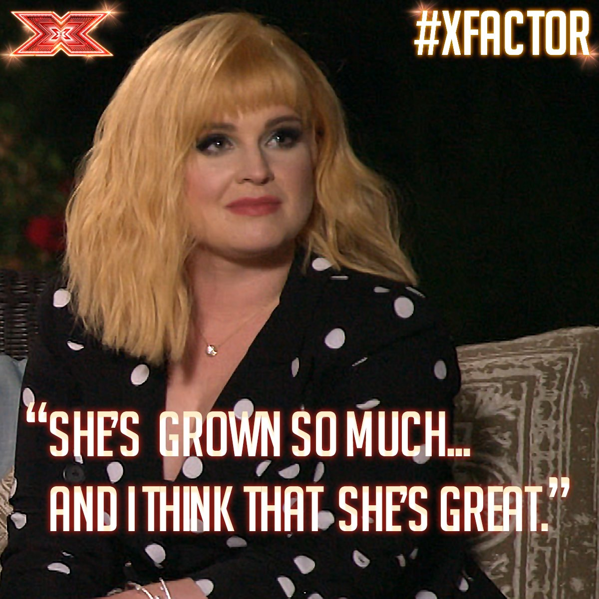 We thought GG nailed it and @KellyOsbourne agrees! 🎤⭐️ #XFactor #JudgesHouses https://t.co/CRKOzuo9BF