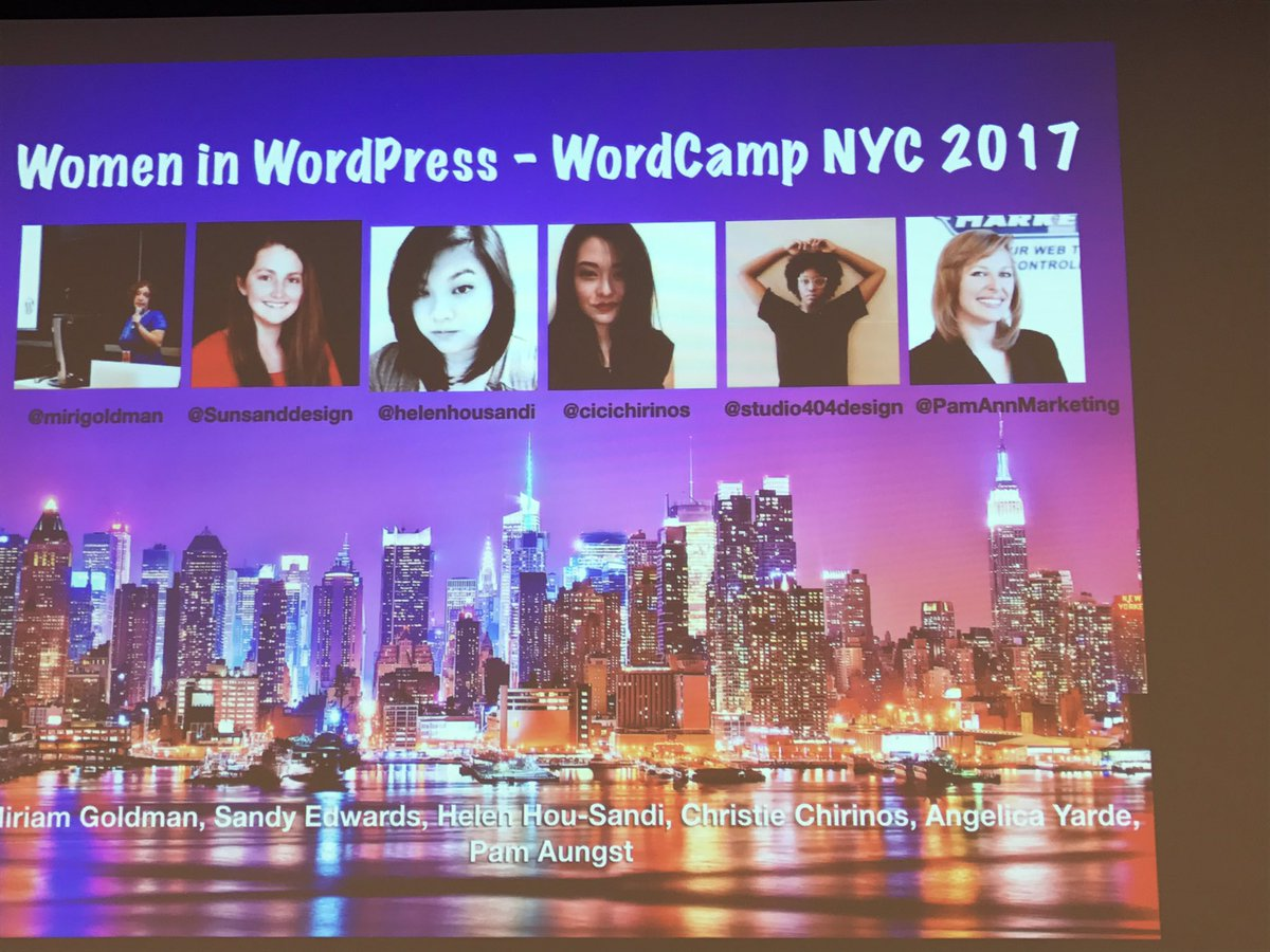 So excited for the last session #Women in #WordPress !! At #wcnyc #wp #tech #womenintech<br>http://pic.twitter.com/YGjoDJ9Jv7